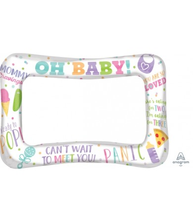 A110416 Selfie Frame Baby Shower - SuperShape