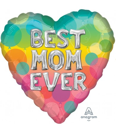 """39217 Best Mom Ever Balloon Letters (18"""")"""