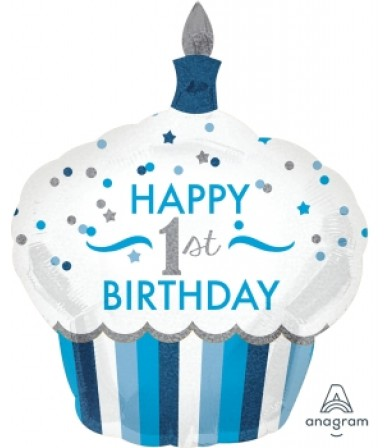 34523 1St Birthday Cupcake Boy - SuperShape