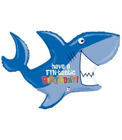 "35559P Birthday Shark (39"")"
