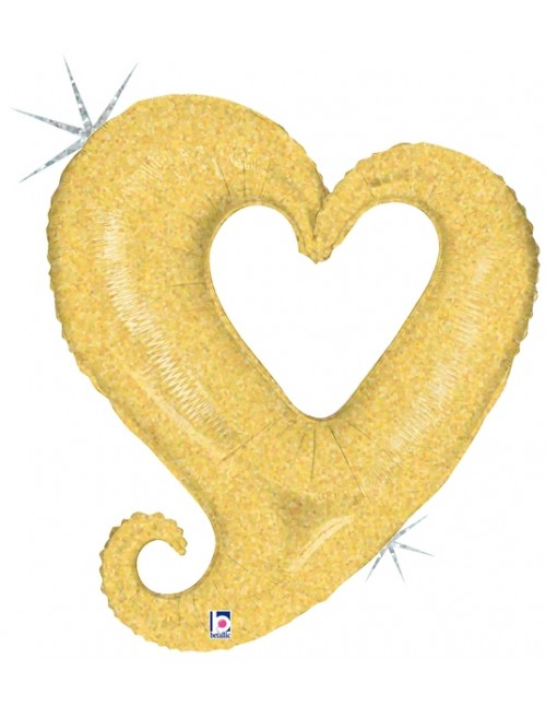 """85797 - Chain of Hearts - Gold Holographic (37"""")"""