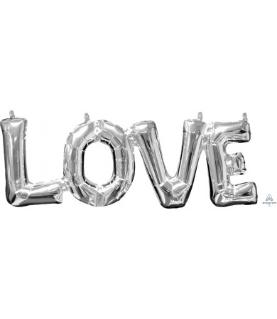 "33101 Block Phrase ""LOVE"" Silver (25"")"