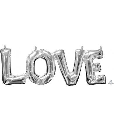 "33101 Block Phrase ""LOVE"" Silver (25"")"
