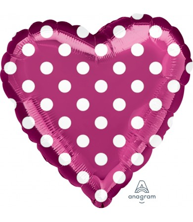 "27282 Fuchsia and Polka Dots (18"")"