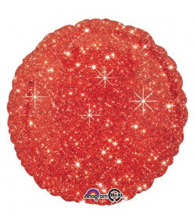 "32652 Faux Sparkle Red (18"")"