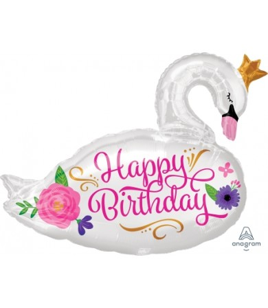 35651 Happy Birthday Beautiful Swan - SuperShape