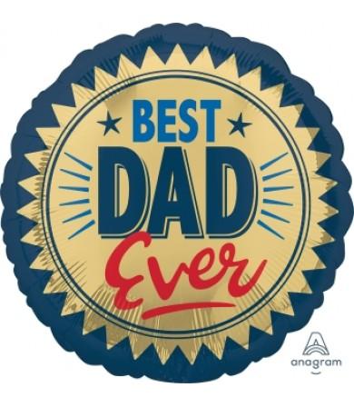 "40964 Best Dad Ever Gold Stamp (18"")"