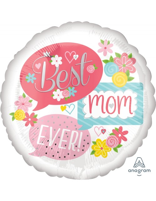 "37061 Best Mom Ever Bubbles (18"")"