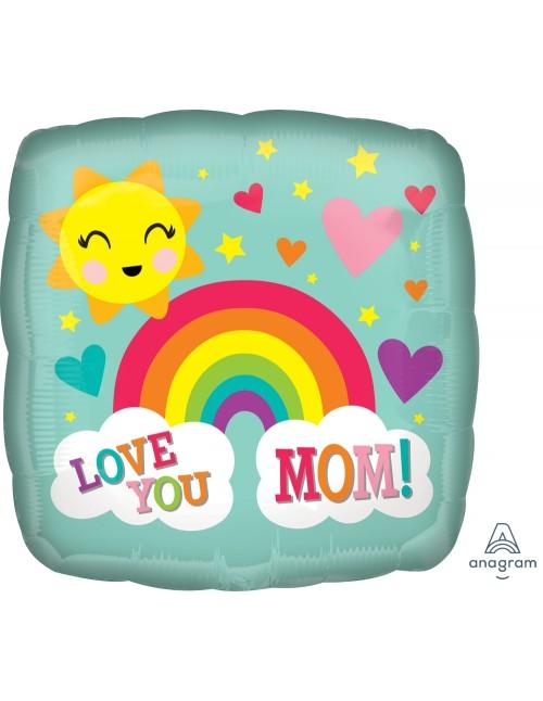 "37252 Love You Mom Rainbow (18"")"