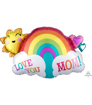 37055 Love You Mom Rainbow - SuperShape