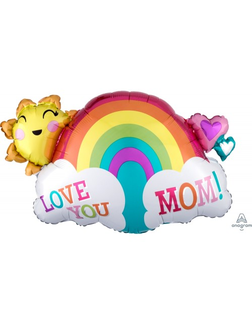 37055 Love You Mom Rainbow - SuperShape