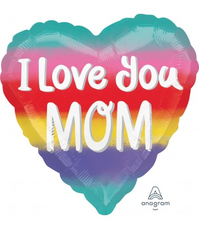"39221 Mom I Love You Watercolor (18"")"