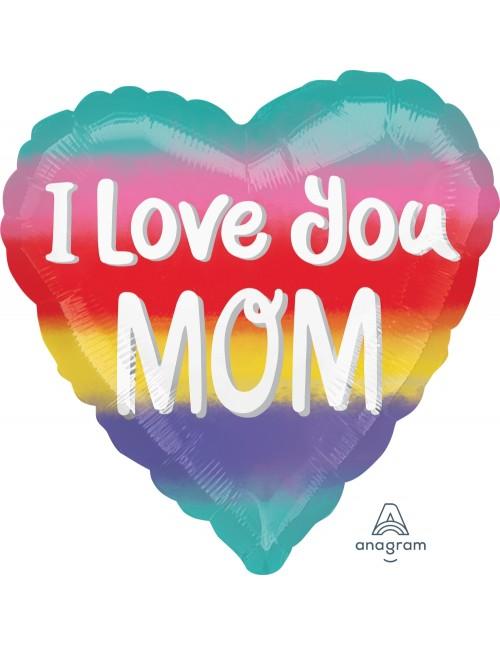 "39221 Mom I Love You Watercolor (18"")"
