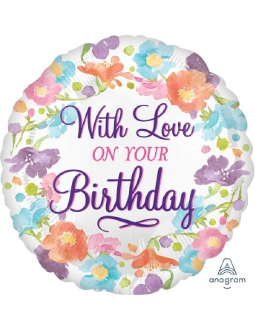 """35570 With Love on Your Birthday (18"""")"""