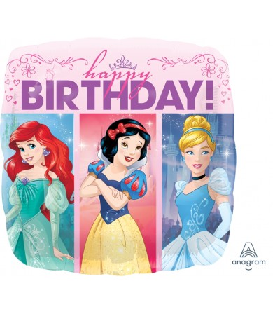 "33807 Multi-Princess Dream Big Happy Birthday   (18"")"