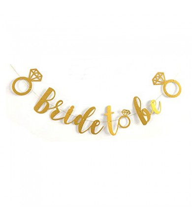 Letter Banner - Bride to Be Gold Dust