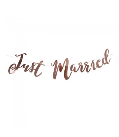 Letter Banner - Just Married