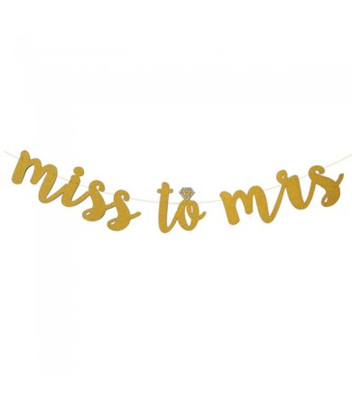 Letter Banner - Miss to Mrs