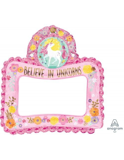 A110477 Selfie Frame Magical Unicorn - SuperShape