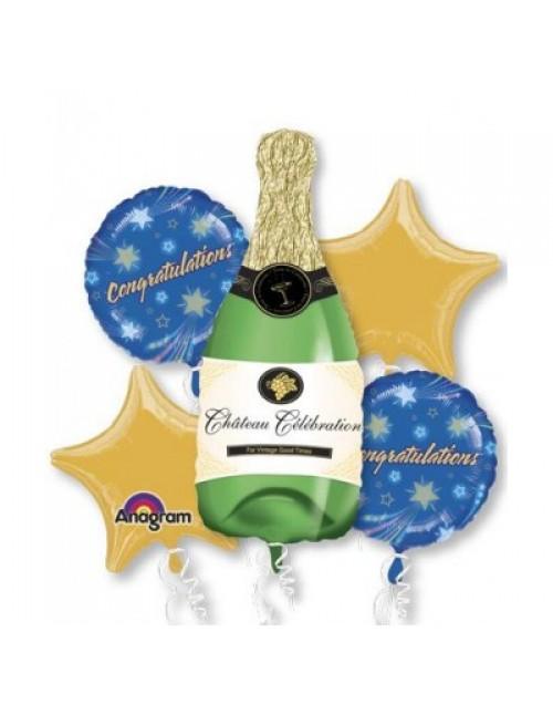 14855 Champagne Bottle Bouquet