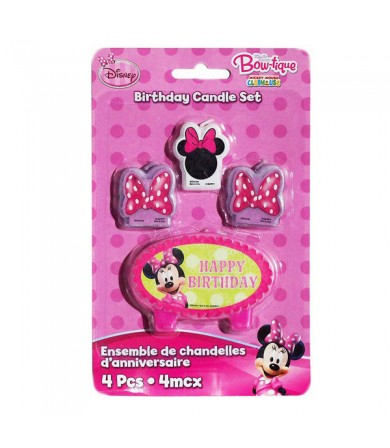 Minnie Mouse Birthday Candle Set - 170299