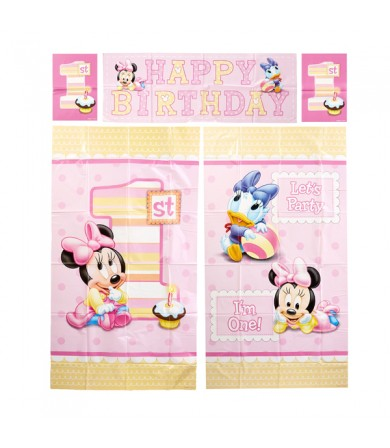 Minnie Mouse 1st Birthday Scene Setter - 670392