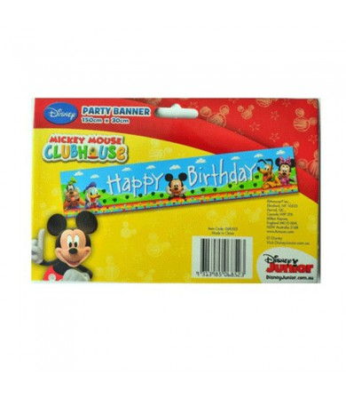 Mickey Mouse Happy Birthday Banner - 068523