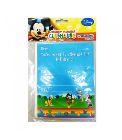 Mickey Mouse Invitation Card - 068493