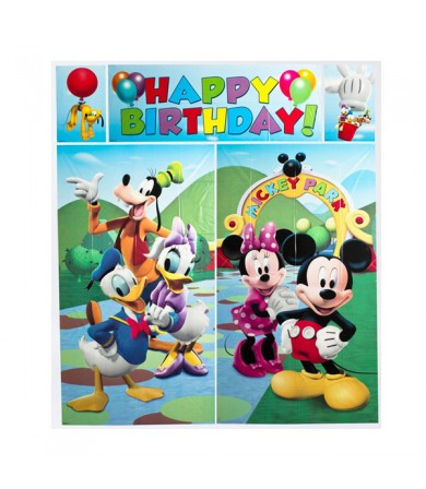 Mickey Mouse Happy Birthday Scene Setter - 679612