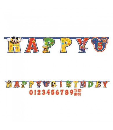 Mickey Mouse Add on Age Letter Banner - 129695