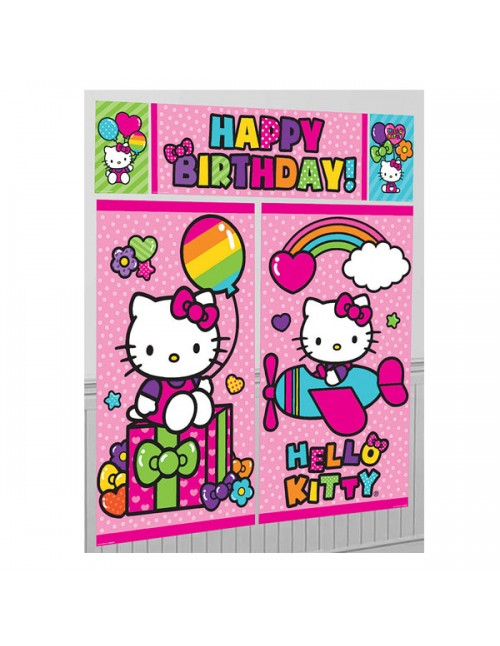 Hello Kitty Happy Birthday Scene Setter - 670369
