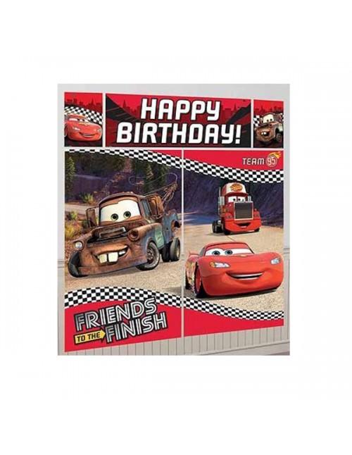 Cars Happy Birthday Scene Setter 670397
