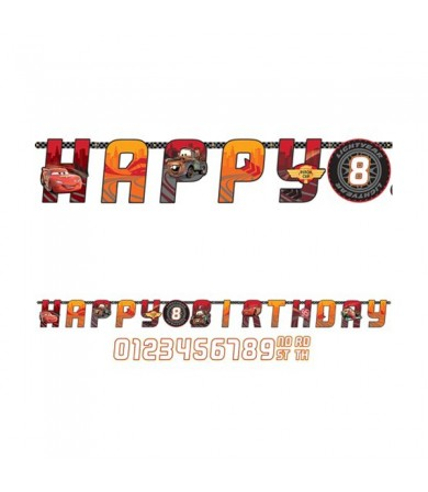 Cars Happy Birthday Add An Age Banner - 121427