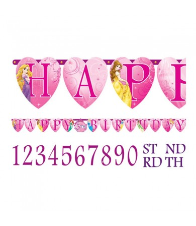 Princess Happy Birthday Add on Age Letter Banner - 126072