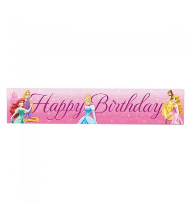 Princess Happy Birthday Banner - 070359