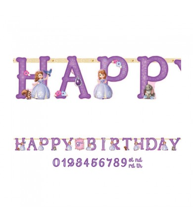 Sofia The First Happy Birthday Add on Age Letter Banner - 121351