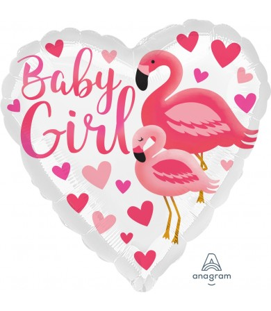 "39633 Flamingo Baby Girl (18"")"