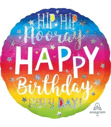 "39624 Hip Hip Hooray Birthday (18"")"