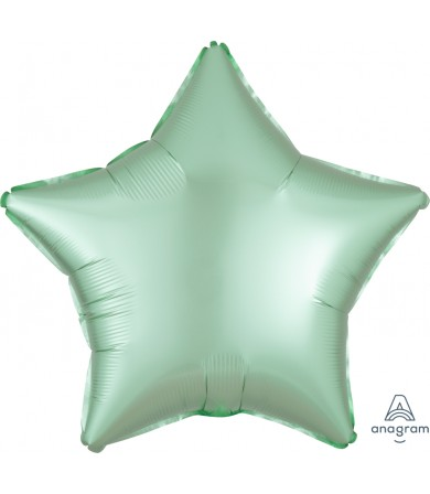 "39915 Satin Luxe™ Mint Green Star (18"")"