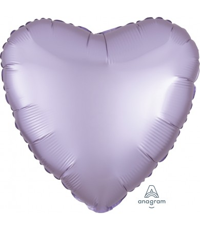 "39905 Satin Luxe™ Pastel Lilac Heart (18"")"
