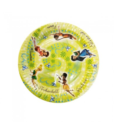 Disney Fairies Tinkerbell Plate 23cm - 067953