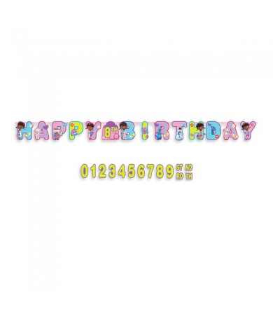 Doc Mcstuffins Happy Birthday Add on Age Letter Banner - 121352