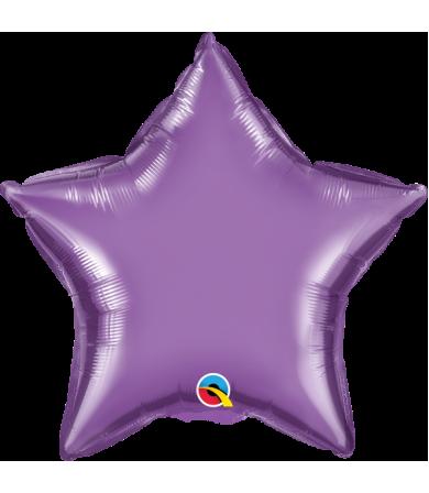 "Q89669 Chrome™ Purple Star (20"")"