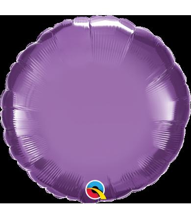 "Q89539 Chrome™ Purple Round (18"")"