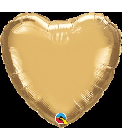 "89619 Chrome™ Gold Heart (18"")"