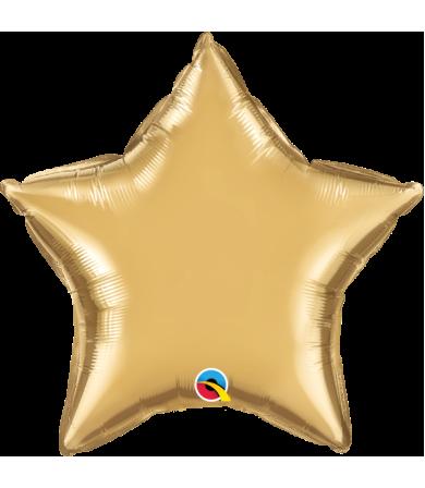 """Q89657 Chrome™ Gold Star (20"""")"""
