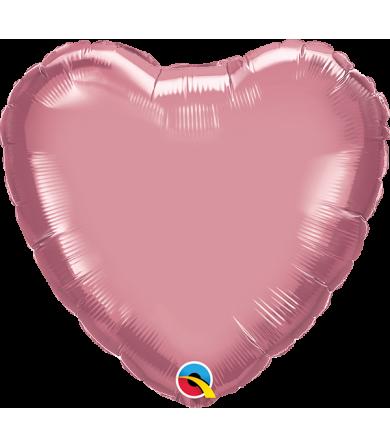 "89628 Chrome™ Mauve Heart (18"")"