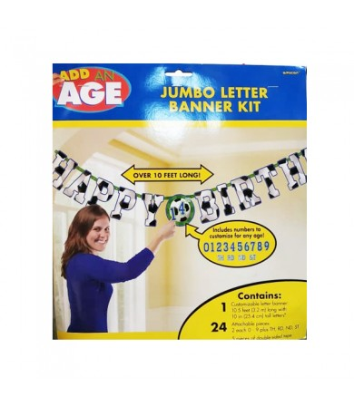 Add on Age Jumbo Letter Banner Kit - 120078