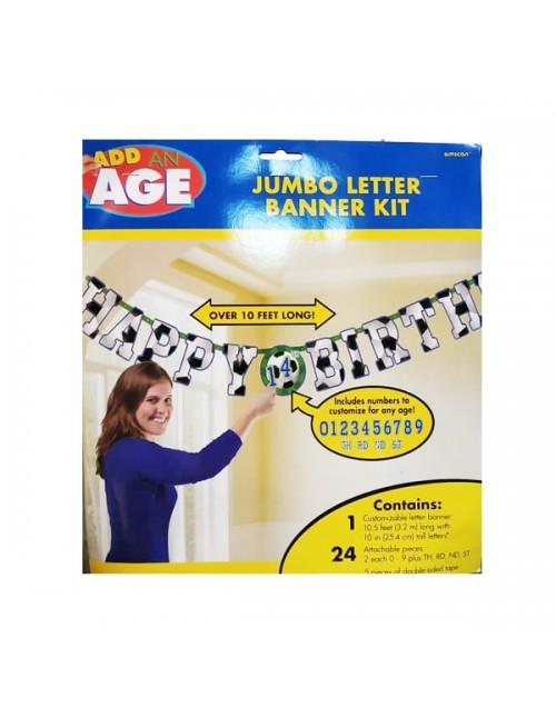 Add on Age Jumbo Letter Banner Kit - 120078