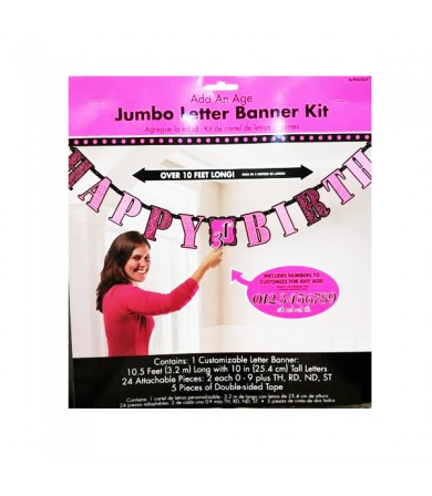 Add on Age Jumbo Letter Banner Fabulous - 120200